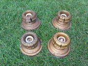 4 Matching Antique Victorian Ceiling Light Fixtures / Wall Sconces