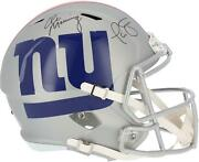 Phil Simms And Eli Manning New York Giants Signed Amp Replica Helmet
