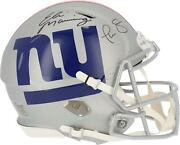 Phil Simms And Eli Manning New York Giants Signed Amp Authentic Helmet