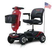 Folding Mobility Scooter 4 Wheel Electric Wheelchair With Windshield Compact Us