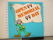 Baskin Robbins Ice Cream 1977 Store Sign Memorial Day Army Soldier Flag 2s-xa