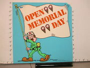 Baskin Robbins Ice Cream 1977 Store Sign Memorial Day Army Soldier Flag 2s-xd