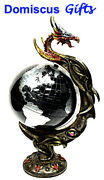 18 New Large Dragon Spinning Globe Fantasy Collectible Jeweled Home Decor