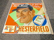 Chesterfield Cigarette 1948 Movie Poster Store Sign Babe Ruth Story Bendix Nm+
