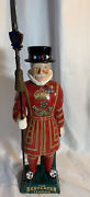 Ceramic Beefeater Yeoman Gin Decanter Holder W/ Spear Complete Great Condition