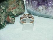 14k Antique Rose Gold 1.00ct Old European Cut Diamond Gypsy 3 Stone Menand039s Ring