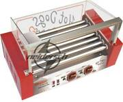 Temperature Control Commercial 7 Roller Hot Dog Grill Cooker Machine 220v New