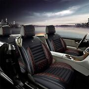Car Seat Covers Full Set For Audi A6 All Weather Waterproof Leather Black Red