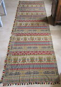 Long Curtains Antique Woven Textile Curtains 155 1/2x47 3/16in