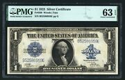 1923 1 Silver Certificate Banknote Fr-239 Choice Uncirculated Certified Pmg-63