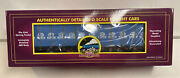 Mth Premier O Scale Great Northern Bulkhead Flat Car With Lumber Load 60412