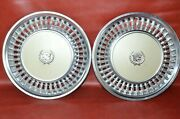 1973 -1978 Cadillac Deville Fleetwood Hubcaps 15 Wheel Covers White Pair