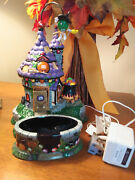Department 56 Halloween 2004 Mandmand039s Animated Flying Witchand039s Castle Candy Dish