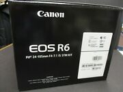Canon Eos R6 Camera And 24-105mm Is Stm Lens Black New Canon Usa