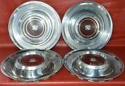 1980-1981 Cadillac Deville Hubcaps 15 Wheel Covers 2035 Set Of 4