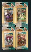 2010 Pokemon Heart Gold Soul Silver Unleashed X4 Blister Pack Lot Factory Sealed