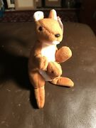 Pouch The Kangaroo Ty Beanie Baby Rare-retired Vintage 1996 Mint Condition