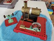Mamod Live Steam Engine Model Antique Toy With Grinder