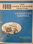 Ford 140 Lawn Garden Tractor And 36andrdquo Snow Thrower Owners 2 Manual S Jacobsen