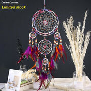 Handmade Dream Catcher Wall Decoration Net Ornament Large Feathers Rings 27