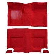 For Ford Mustang 65-68 Carpet Essex Replacement Molded Red Complete Carpet Kit W