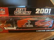 New In Box Nfl Cleveland Browns2001 Collectible Semi Tractor Trailer 180 Scale