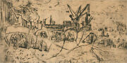 Simon Blomberg - Early 19th Century Etching, Industrial Scene