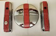 Moon Eyes Valve Covers And Air Cleaner Sbc Chevrolet Center Bolt Chrome Plated
