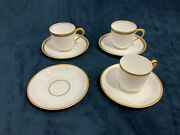 Set Espresso Demitasse Cups And Saucer Stouffer Hand Painted And Latrille Old Abbey