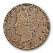 1911 Liberty Head Nickel Uncirculated Ms High End Toned Beauty 2078