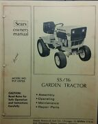 Sears Suburban Ss/16 Tractor Owner, Parts And Engine Service 2 Manuals 917.25752