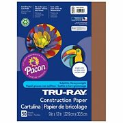 Pacon Tru-ray Construction Paper Warm Brown 9 X 12 50 Sheets Per Pack 10 Packs