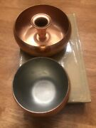 Vintage Coppercraft Guild Copper Candle Holder 1 Only And 1 Rounded Cup