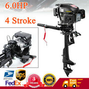 6.0hp 4 Stroke Hangkai Outboard Motor Boat Engine Air Cooling Ignition System