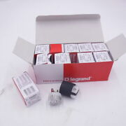 10 Pack Pass And Seymour Legrand Ps5366-x Str. Blade Plugs 20a 125v 2p 3w