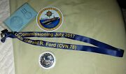 Uss Gerald R. Ford Cvn78 Commissioning July 2017 Coin And Lanyard