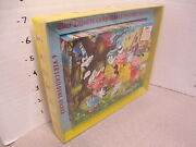 Disney 3 Little Pigs Wood Block Puzzle 6 1960s Dumbo Donald Duck Mickey Mouse