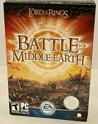 Lord Of The Rings The Battle For Middle Earth Ntsc Pc Game New Sealed Medium Box