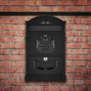Large Capacity Steel Wall-mount Mailboxes Lockable Vintage Style Home W/ 2 Keys