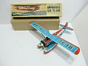 Amphibious Plane With Box Friction Powered N Mint Cond Tested Works Made N Japan