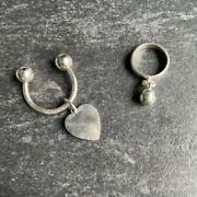 Heart Keychain Ball Charm Ring Vintage Goods Item From Japan K11557