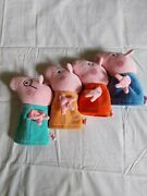 Peppa Pig Family Hand Puppets Great Condition.