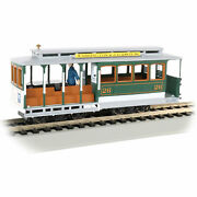 Bachmann Trains 60536 Cable Car And Grip Man Model Train Display, Green And Gray