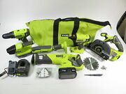 Ryobi P1819 18v One+ Brushed Cordless 6-tool Battery Operated Power Tools