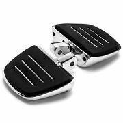 Chrome Motorcycle Mini Floor Boards Left And Right For Yamaha Raider Fz Yzf Vmax