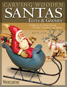 Oar Ross-carving Wooden Santas Elves And Book New