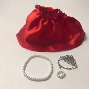 Madame Alexander Olivia Doll Outfit Red Ball Gown With Crown And Jewelry