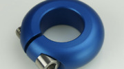 """Hutch 1"""" Bmx Seat Post Clamp Blue New Jdb  Not Old School Vintage Freestyle"""