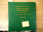 1986 - 2014 American Eagle Silver Dollars 29 Coins With Slipcase