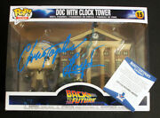 Beckett Cert Christopher Lloyd Signed Back To The Future Funko Clock Tower